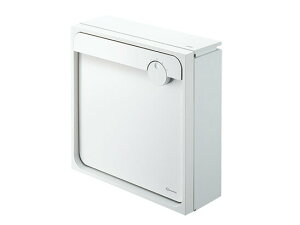 NASTA ポスト【KS-MAB1】450×450 上入前出/壁付け・防滴タイプ 【ホワイト×ホワイト】