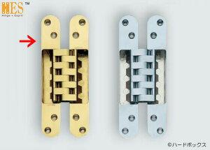 【スガツネ】 ランプ印 建築ドア用隠し丁番 HES-3030BR型 【HES-3030BR PB】 【190mm】 【真鍮磨き】