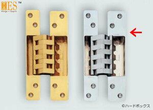 【スガツネ】 ランプ印 建築ドア用隠し丁番 HES-3038BK型 【HES-3038BK SC】 【190mm】 【サテンクロム】