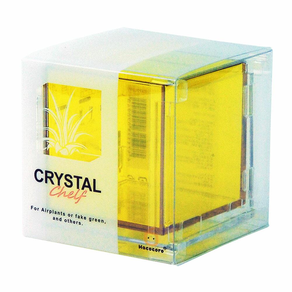 【送料全国一律/あす楽/ギフト対応】CRYSTAL CHELF(クリスタル・シェルフ)- エアプランツやアーティフィシャル、造花用の壁掛けインテリアケース/クリスタルの質感と美しい光沢が特徴の高品位ケースは、そのままディスプレイや小物入れとしても大活躍