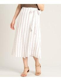 [Rakuten Fashion]【SALE/70%OFF】《大きいサイズ》ストライプフレアスカート《MONTI》【シティリビング5月号掲載】 7-IDconcept. セブンアイディコンセプト スカート フレアスカート ブラウン【RBA_E】【送料無料】