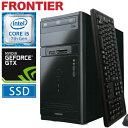 フロンティア デスクトップパソコン [Windows10 Core i5-7400 8GB メモリ 275GB SSD 1TB HDD GeForce GTX1...