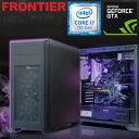 フロンティア デスクトップパソコン [Windows10 Core i7-7700 16GBメモリ 256GB NVMe SSD 2TB HDD GeForce...