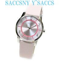 サクスニーイザックSACCSNYY'SACCSユニセックス男女兼用メンズレディース腕時計ペアラウンド円形カジュアルプレゼントギフトに最適ウォッチピンクゴールドおしゃれかわいいビジネスフォーマル女性用腕時計クリスタルきれい光沢