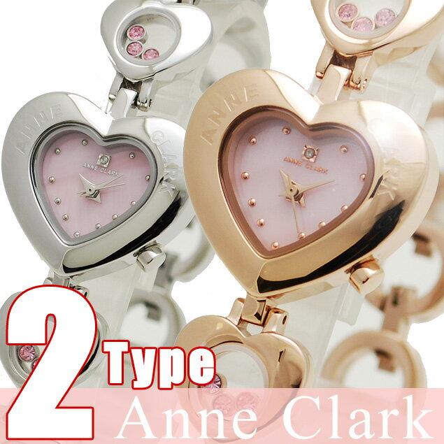 腕時計 レディース 送料無料 AnneClark/ アンクラーク ピンクゴールド レディース腕時計 丸型 ウォッチ 【天然ダイヤ】 ピンク×ピンクゴールド [かわいい キラキラ] [女性らしさ] [愛され] [ビジネス] [円] [おしゃれ] [本命] [ブランド] [%OFF]