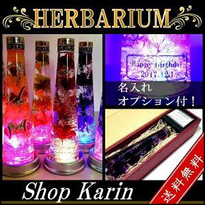 ハーバリウム LEDコースター付き 植物標本 プリザー...