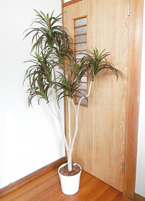ユッカポット 155cm レッドUDD触媒 観葉植物 大型 造花 人工観葉植物 消臭・抗菌 フェイクグリーン【RCP】