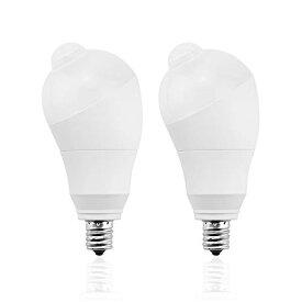 LED電球 人感センサー電球 E17 50W形相当 5W センサーライト 自動点灯/消灯 斜め 360度回転 検知角度調節可能 省エネ 防犯ライト 電