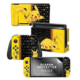 Nintendo Switch 任天堂スイッチ 本体&コントローラー用 スキンシール 液晶保護シール ステッカー ポケモン ピカチュウ 任天堂公式