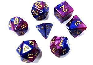 Kittro 7個 多面体サイコロ、ダイス、クトゥルフ神話 、Dungeons and Dragons 、DND、MTG 、TRPG カードゲーム、 教育、 知育などに