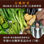 《和気健康農業研究会》江見さんの季節の野菜詰合せ7種(西日本岡山県有機JAS・自然農法・おかやま有機無農薬栽培認定安心安全離乳食)
