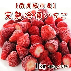 【送料無料】南房総市産 冷凍いちご 苺 冷凍 ヘタなし 【グリーンアース】