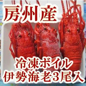 【送料無料】 冷凍 ボイル 伊勢海老 3尾入 セット 南房総産 【東安房漁業協同組合】