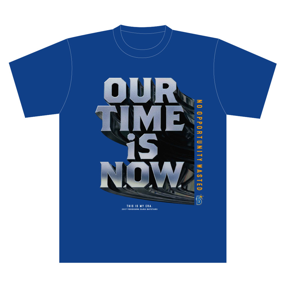 NEW 横浜DeNAベイスターズTシャツ(OUR TIME IS N.O.W.)