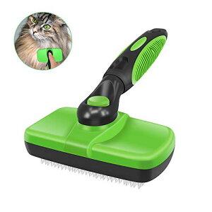 Seengo 猫 ブラシ 犬 ブラシ ペット用ブラシ スリッカーブラシ 抜け毛取り ノミ防止 ノミ取り ワンプッシュで抜け毛除去 中型犬 大型