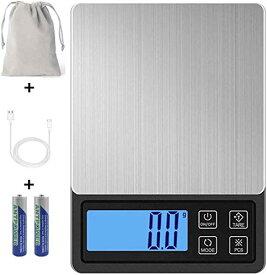 Miya デジタルスケール 0.1gから3000gまで キッチンスケール USB充電式 計量可能 計数機能 風袋引き機能 電子はかり