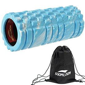 Soomloomグリッドフォームローラー EVA 14cm*33cm 多色 超軽量 筋膜リリース・マッサージ・ダイエット ヨガ・ストレッチ器具 バランスト