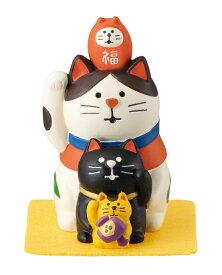 【送料無料】デコレ concombre 福重ね招き猫