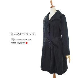 【送料無料】タックベルトコート(comt,コムト) 9号 【ミセスファッション】【40代】【50代】【60代】