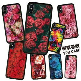 耐衝撃 iPhoneケース スマホケース 携帯ケース 携帯カバー ハードケース スマホカバーケース シリコン 背面カード アクリル iphone8 iPhoneXs iPhoneXr iPhoneXs Max iPhoneX iphone7 アイフォン 鏡 おしゃれ かわいい 花柄 フラワー ピンク バラ 薔薇 ピンク カラフル 赤