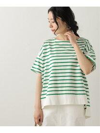 【SALE/48%OFF】半袖裾リブ使いボーダーTシャツ frames RAY CASSIN レイカズン カットソー Tシャツ グリーン ブラック グレー【RBA_E】[Rakuten Fashion]