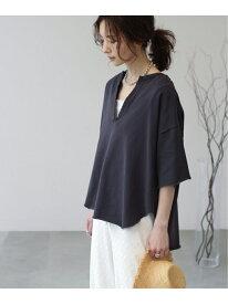 【SALE/20%OFF】【WEB限定】深Vウラケピグメントプルオーバー frames RAY CASSIN レイカズン カットソー Tシャツ ブラック パープル グレー【RBA_E】[Rakuten Fashion]