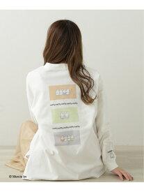 【SALE/20%OFF】ミッフィーがたっぷりTシャツ Ray Cassin レイカズン カットソー Tシャツ ホワイト ベージュ【RBA_E】【送料無料】[Rakuten Fashion]