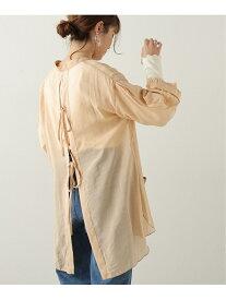 【SALE/70%OFF】バックリボンシアーブラウスSET frames RAY CASSIN レイカズン シャツ/ブラウス 長袖シャツ オレンジ ベージュ パープル【RBA_E】[Rakuten Fashion]