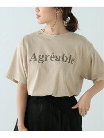 【SALE/50%OFF】ピグメントロゴTシャツ frames RAY CASSIN レイカズン カットソー Tシャツ ベージュ グレー オレンジ ブルー【RBA_E】[Rakuten Fashion]