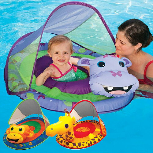 【スイムウェイズ】 ベビー スプリング フロート アニマル 選べるキャラクター キリン カバ サル 日除け 子供用 浮輪 ベビーボート プール [並行輸入品] [海外お取り寄せ品] Swimways Baby Spring Float Animal Friends 幼児用 足抜き 足入れ 浮き輪 お風呂【送料無料】