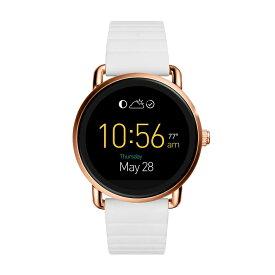 フォッシル スマートウォッチ Fossil FTW2114 Q Gen 2 Smartwatch Wander White Silicone海外お取り寄せ商品 米国正規商品 送料無料【smtb-tk】