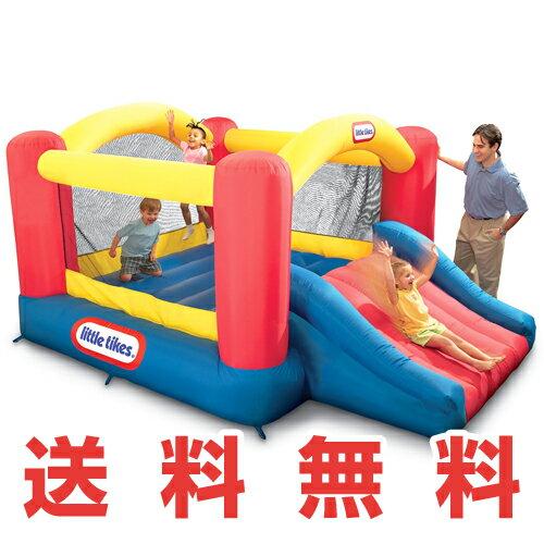 リトルタイクス ジャンプスライドバウンサーLittle Tikes Jump 'n Slide Bouncer屋外用 室内用 トランポリン子供用トランポリン 幼児〜 エアートランポリン おもちゃ 玩具 滑り台 すべり台