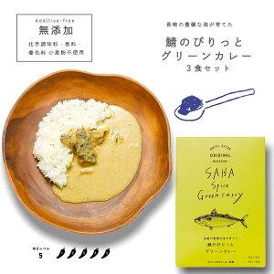 レトルトカレー|長崎の豊穣な海が育てた鯖のぴりっとグリーンカレー3食セット|無添加 ご当地カレー