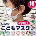 【3点以上で送料無料】 SKATER スケーター 不織布 子供 マスク 10枚入り プリーツ 三層構造 不織布 使い捨て インフル…