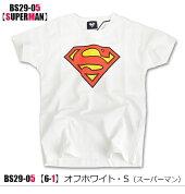 【送料無料】バットマンBATMANスーパーマンSUPERMAN半袖Tシャツシャツロゴマークプリント綿コットンアメコミヒーローDCコミック男の子女の子キッズジュニア子供110120130140150160BS29-04BS29-05