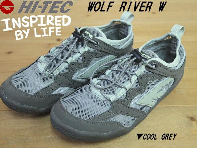 ♪HI-TEC WOLF RIVER WOMENS▼COOL GREY▼ハイテック ウルフリバー キッズ、 レディース スポーツサンダル(21cm-22.5cm)▼0004550-051