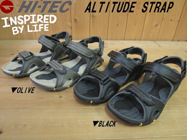 期日限定価格!(8/31日20:00まで)♪HI-TEC ALTITUDE STRAP▼OLIVE(061)・BLACK(021)▼005411 ハイテック アルティチュード ストラップ メンズ スポーツサンダル