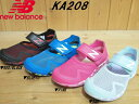 ♪New Balance KA208▼RED/BLACK(RBY)・BLUE(BLY)・PINK(PNY)・SAX(APY)▼ニューバランス キッズ サマーシュ...