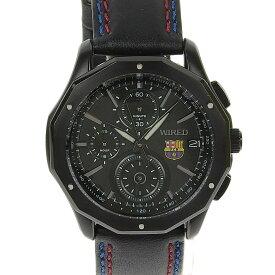 【本物保証】 セイコー SEIKO ワイアード クロノグラフ FCバルセロナ メンズ クォーツ 腕時計 ウォッチ AGAW624 【中古】