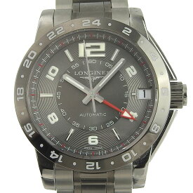 【本物保証】 箱・保付 超美品 ロンジン LONGINES アドミラルGMT メンズ 自動巻き オートマ 腕時計 L3 669 4 【中古】
