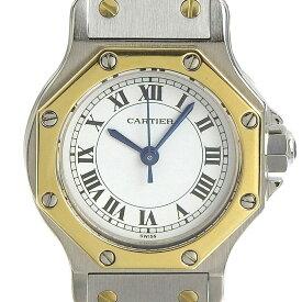【本物保証】 美品 カルティエ CARTIER サントスオクタゴンSM レディース 自動巻き オートマ 腕時計 2021/03 OH済 【中古】