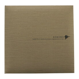 KOKORO/オリーブ3面(角+2L2+手紙中枠)写真台紙 記念写真 アルバム TAKENO 竹野株式会社 600-0083