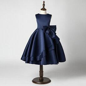 398a223f6e3dc ... 限定 ピアノ発表会 ドレス 子供ドレス 大きなリボンのキッズドレス ロングドレス 高級 ジュニアドレス 女の子用フォーマルドレス コンクール 結婚式  こどもドレス ...