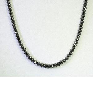 50ct ブラックダイヤモンド ネックレス K18WG 18金ホワイトゴールド メンズ 男性 レディース 「4p0186-1」【送料無料】 *