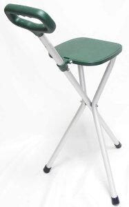ちょっとした椅子として、ステッキとしてご使用になれる「ハンディなステッキチェアー(アルミステッキシート)」、アウトドアライフにも重宝します!!