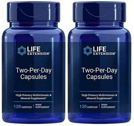 2本セット ライフエクステンション ツーパーデイ 120 カプセル - Life Extension two Per Day Caps 海外通販