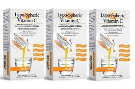 3箱セット リポスフェリック ビタミンC 1000mg 30包入 リポソーム 高濃度 ビタミンC サプリメント- lypo-spheric 海外直送