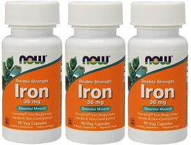 [3個セット] ビスグリシン酸鉄 36mg 90粒 NOW Foods (ナウフーズ) アメリカ製 高含有 鉄分 ビスグリシン フェロケル アイロン