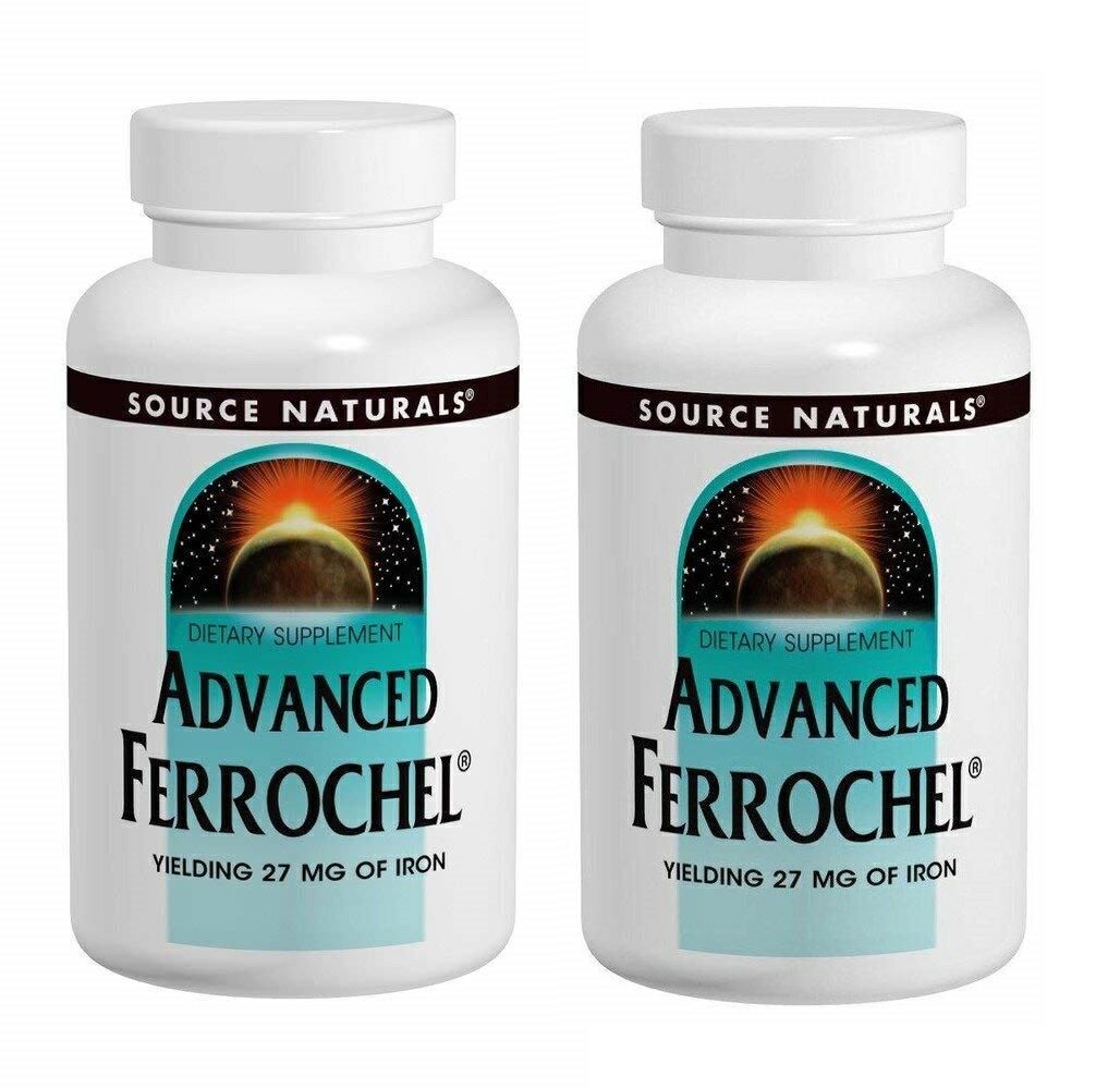2本セット ソースナチュラルズ アドバンスド フェロケル 27mg 180タブレット Source Naturals Advanced Ferrochel