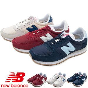 ニューバランス レディース スニーカー NB WL220 ランニングシューズ スポーツ レースアップ 運動靴 異素材 ローヒール 靴 痛くない カジュアル スカ--レッド(CRA) シーソルト(CRB) ネイビー(CRC) /M
